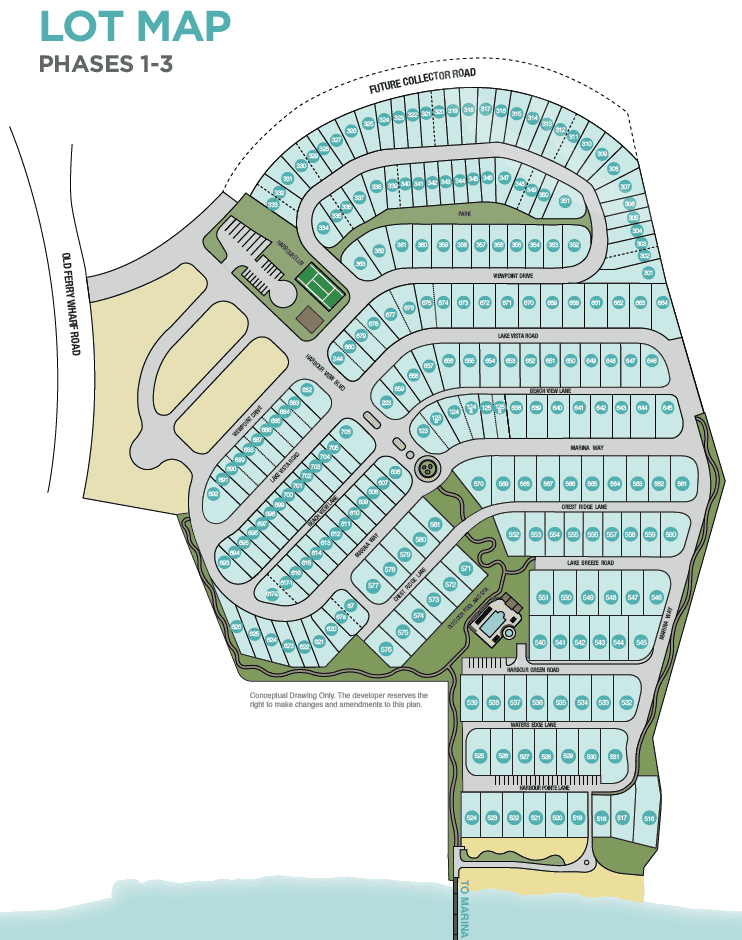 west harbour lot map